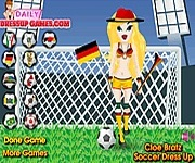 Cloe Bratz soccer dress up focis j�t�kok